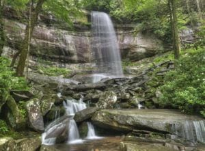 Rainbow Falls in the Smoky Mountains