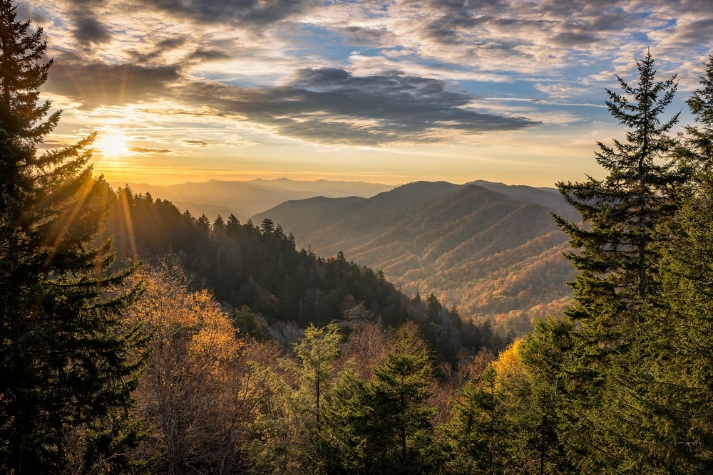 View of the Smoky Mountains