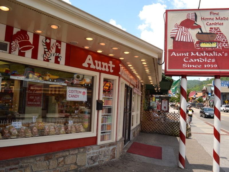 Aunt Mahalia's Candies in downtown Gatlinburg.