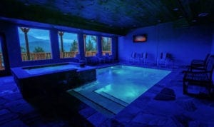 gatlinburg cabins with indoor pool and a view of the Smokies