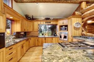 kitchen in a cabin